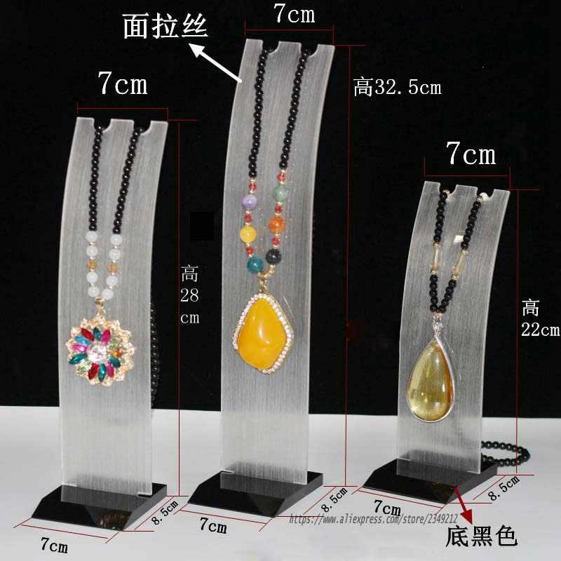 Wysokiej jakości akrylowy naszyjnik stojak wystawowy wisiorek stojak pojemnik na biżuterię dekoracja samochodu uchwyt do łańcuszka wyświetl rekwizyty