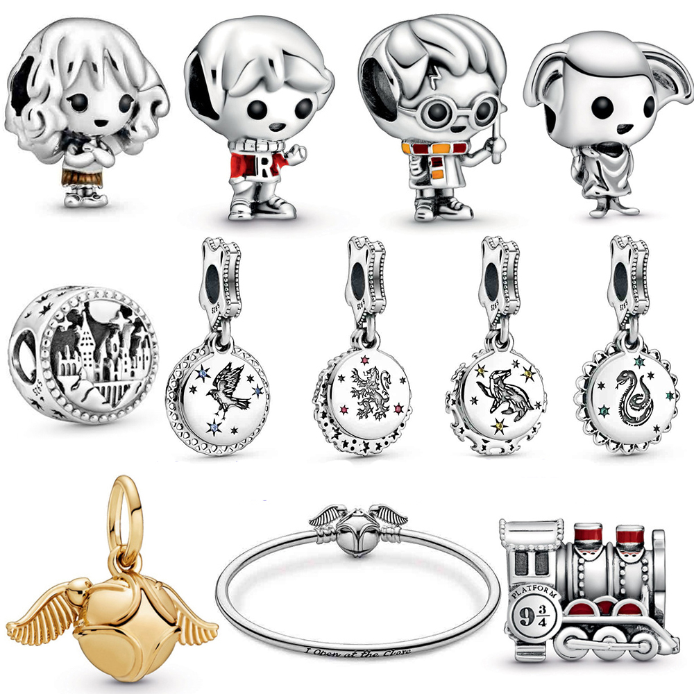 2019 NEW 100% 925 Sterling Silver Sci-fi Collection Magic School Pendant Charm Fit DIY Bracelet Original Fashion Jewelry Gift