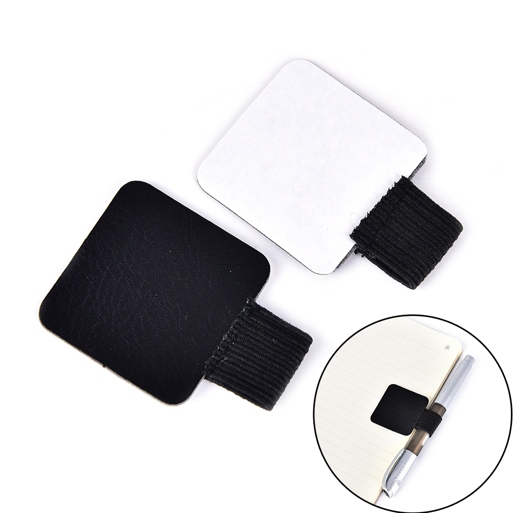 New Self-adhesive Leather Pen Holder Pencil Elastic Loop For Notebooks Journals Clipboards 1pcs Pen Clips
