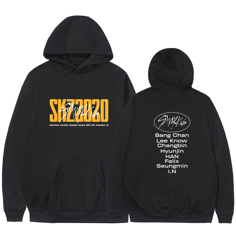 2020 KPOP Stray Kids Hoodies Sweatshirt Casual Oversized Sportswear Hoodie Plus Size 4XL World Tour District 9 Unlock StrayKids