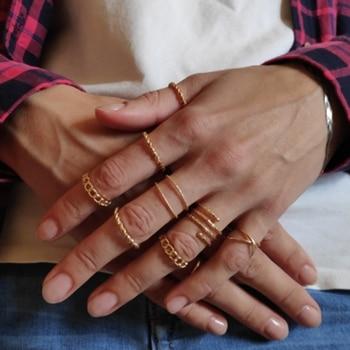 IF ME 30pcs/set Vintage Punk Gold Ring Set for Women Men Fashion Retro Antique Finger Ring Fashion Party Jewelry Lot 2019 NEW 2