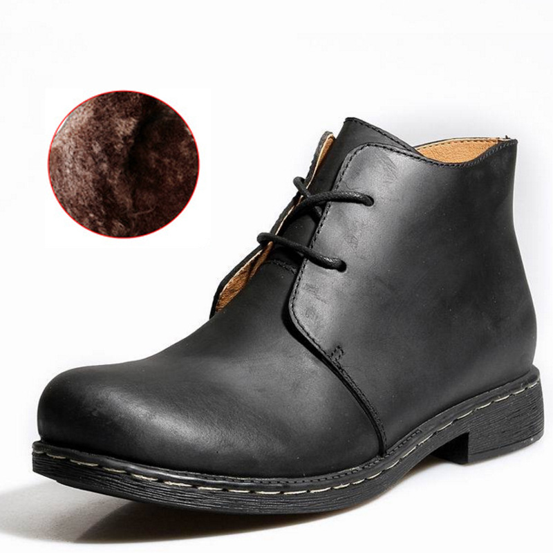 Новые мужские Ботинки martin на осень и зиму, бархатные теплые модные ботинки с высоким берцем на шнуровке, большие размеры 38 47