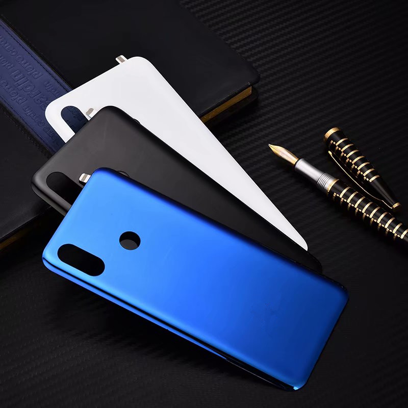 MI8 Xiaomi8 100% Real Housing For <font><b>Xiaomi</b></font> <font><b>Mi</b></font> <font><b>8</b></font> Glass <font><b>Battery</b></font> <font><b>Cover</b></font> Repair Back Door Phone Rear Case + Sticker image