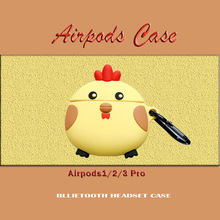 For AirPods 2 3 Case 3D Chick Cute Cartoon Soft Silicone Wireless Bluetooth Earphone Cases For Airpods pro Case Cover Fundas 3d minions earphone case for airpods pro case cute soft silicone wireless for airpods pro case cover cartoon protective cover