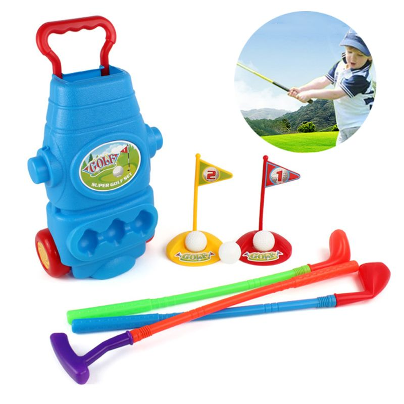 11Pcs Children's Plastic Golf Sports Toys Set Boys and Girls Ball Outdoor Sports Fitness Products Parent-child Interactive Toys