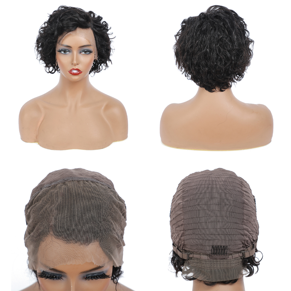 Water Wave Lace Front Wigs  Curly  Lace Frontal Wig 13X4 Lace Closure  Bob Wig  Curly  Wigs 3