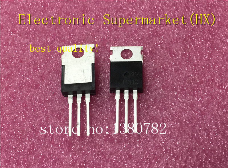 Free Shipping 100pcs/Lot TIP31C TO-220 TIP31 IC In Stock!