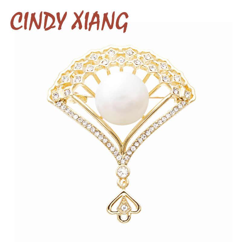 Nước Hoa Nữ Cindy Tương Đá Và Ngọc Trai Quạt Xòe Nữ Phối Trang Sức Mùa Đông Deisgn Phụ Kiện Thời Trang Thổ Cẩm & Pin Chất Lượng Cao
