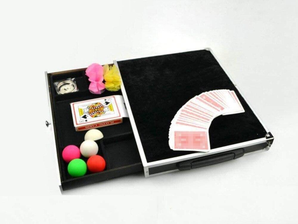 Boîtier en aluminium avec tiroir avec aimant et tiroir tours de magie amusant table accessoires de magie accessoires de magie de scène 81305