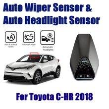 รถสมาร์ทขับรถ Assistant ระบบสำหรับ Toyota C HR CHR 2018 ~ 2019 Auto อัตโนมัติฝนใบปัดน้ำฝน SENSOR & ไฟหน้าเซ็นเซอร์