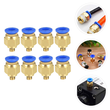 8pcs Printer Pneumatic Fitting Push to Connect Air Straight Quick Fitting 3D Printer Parts