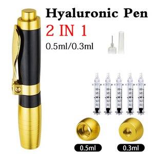 Image 1 - 2 IN1 Atomizzatore Sterile Acido Ialuronico Pen hyaluronique Penna Per Filler dermico lip fillerlip Anti Rughe lifting del viso di iniezione