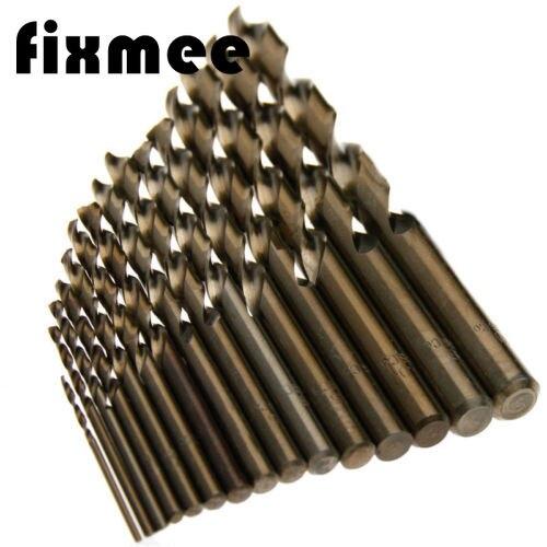 15Pcs High Speed Steel M35 HSS Cobalt Twist Drill Bit Set 1.5-10mm Power Tools
