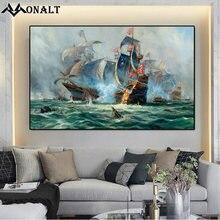 Картина на холсте морской пейзаж Постер парусник в океане классическое