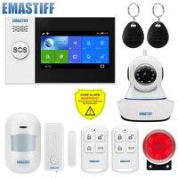 Fördern Produkt Russische lager TFT Bildschirm Kamera überwachung WIFI GSM Hause Einbrecher Sicherheit Alarm System APP Kontrolle