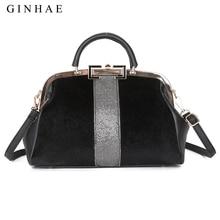 Fashion Faux Fur Women Bag Famous Brand Large Capacity Top Handle Bag Shoulder Bags Elegant Ladies Horse Hair Leather Handbags