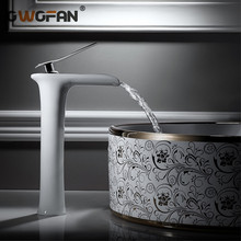 Basin Faucets Waterfall Bathroom Faucet Single Handle Basin Mixer Tap Chrome Faucet Brass Hot and Cold Sink Water Crane Silver black pull out brass bathroom basin sink faucet single handle hot and cold basin water crane vessel sink mixer tap al 7807