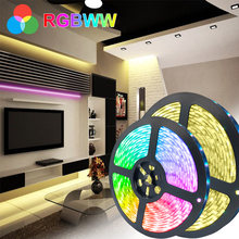 5M 10M 5050 Waterproof LED Strip light DC12V RGB / RGBPP / RGBWW Flexible LED Light Tape 15M 2835 LED RGB Color Strip NO adapte