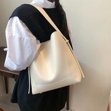 Casual High-quality Ladies Retro Large-capacity Shoulder Bag 2021 New Female Bag Net Red Single Shoulder Messenger Bucket Bag