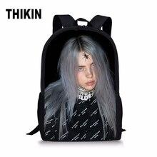THIKIN Spider-Girl Billie Eilish Print Student School Bags Kids Girls Popular Casual Children Shoulder Satchel Custom