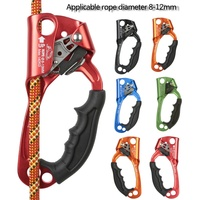 Outdoor Rock Climbing Right/ Left Hand Ascender Riser  Mountaineer Handle Ascender Climbing Rope Tools With 8 12mm Rope Clamp|Climbing Accessories| |  -