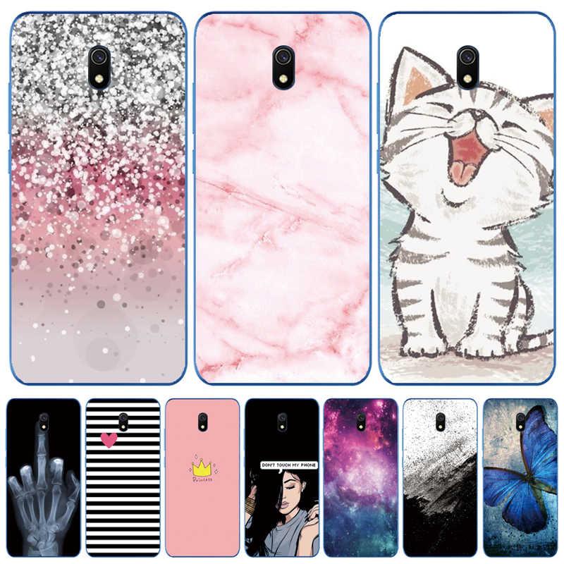Silicone Case For Xiaomi Redmi 8a Cases Full Protection Soft Tpu Back Cover For Redmi 8 A Bumper Redmi 8a Phone Shell Bags Coque