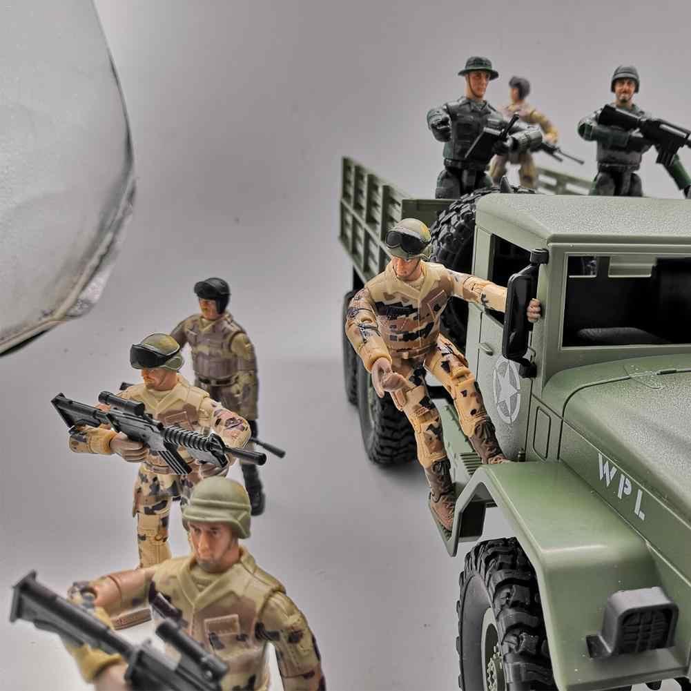 10 CENTIMETRI di trasporto Speciale Forze Tattiche di Commando D'assalto Poliziotto RC Auto Giocattolo Figura di Polizia Building Block Per Il Ragazzo Bambole Regolabile