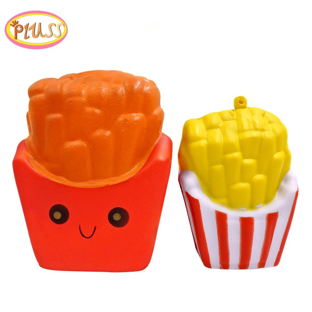 Squishi Squeeze Kawaii Jumbo Squishy French Fries Squishies 2019 Mochi Toys For Children Squishy Ball