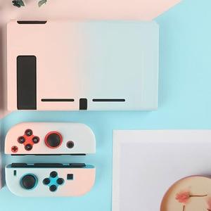 Image 2 - צבעוני קשיח מלא חזרה כיסוי קריסטל מעטפת עבור Nintendo מתג NS קונסולת שמחה קון בקר מגן סרט מדבקת עור מקרה