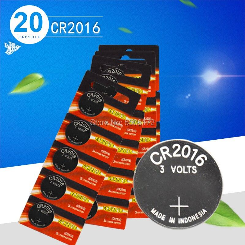 Cr2016 20pcs המקורי חדש לגמרי סוללה עבור אנרג 'ייזר 3v מטבע סוללות עבור שעון מחשב cr 2016 מתאים שעון