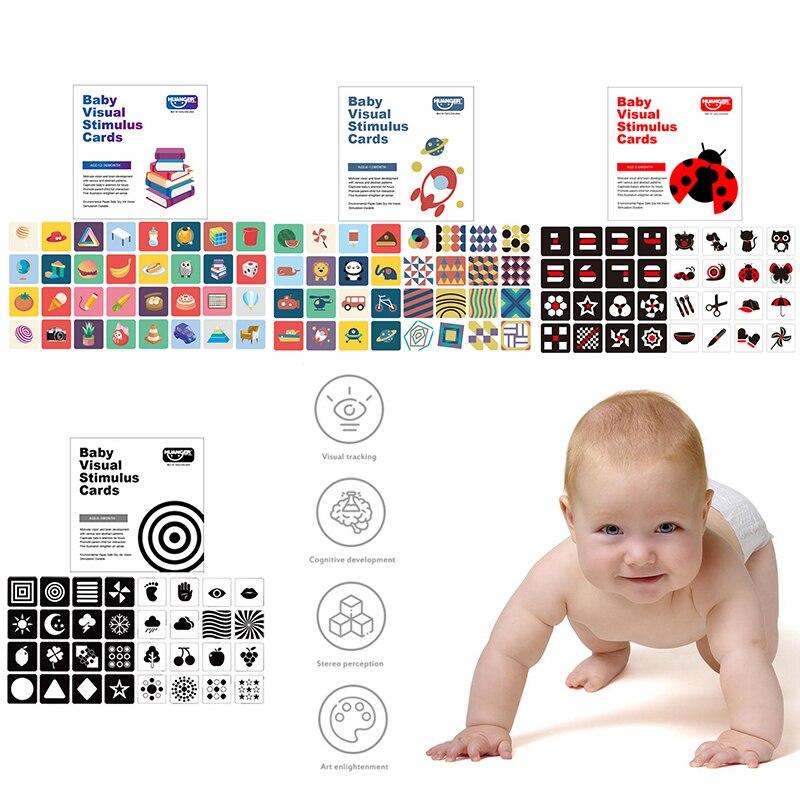 Детская цветная обучающая карточка для раннего развития черные и белые карточки для раннего обучения детская Визуальная стимуляция игрушк...