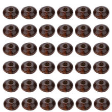 400 Pcs Thicken Wooden Beads Agate Flat Beads DIY Spacer Charms Jewelry Crafts Accessory for Home Bracelet Necklace Making (Coff(China)