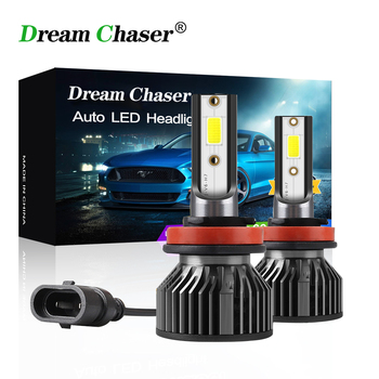 dream Chaser H7 LED Lamp H4 H8 H9 H11 Car Light 9005 HB3 9006 HB4 bombillas LED Headlights 7200LM 72W 6000K 12V Automobiles Lamp image