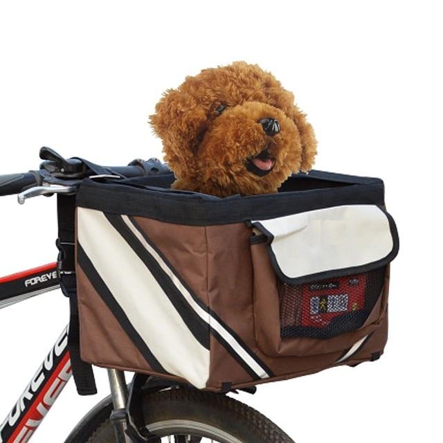 Sac de transport de vélo pour animaux de compagnie, siège de vélo pour chiot, chien, chat, petit Animal, pour randonnée, accessoires de panier de cyclisme 2