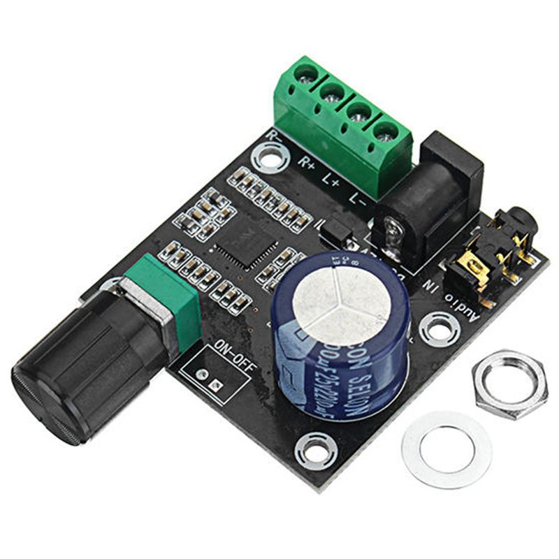 PAM8610 Dual Channel DC 12V HD Pure Digital Audio Stereo Amplifier Board Class D 15W x 2 High Power Amplifier Module