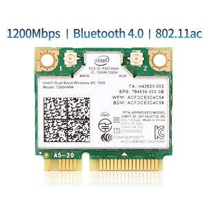 Image 1 - Carte réseau sans fil, Mini PCIe, wi fi 802.11AC, 1200 mb/s, 2.4/5GHZ, 867 mb/s, pour Intel7260, 7260AC, 7260hmw, 4.0 mb/s, Bluetooth