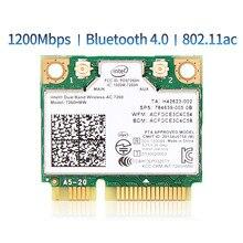 Tarjeta Wlan de red inalámbrica Intel7260, 7260AC, 7260AC, 7260HMW, 1200/5GHZ, 2,4 M, Wifi, Bluetooth 867, Mini PCIe, 4,0 Mbps