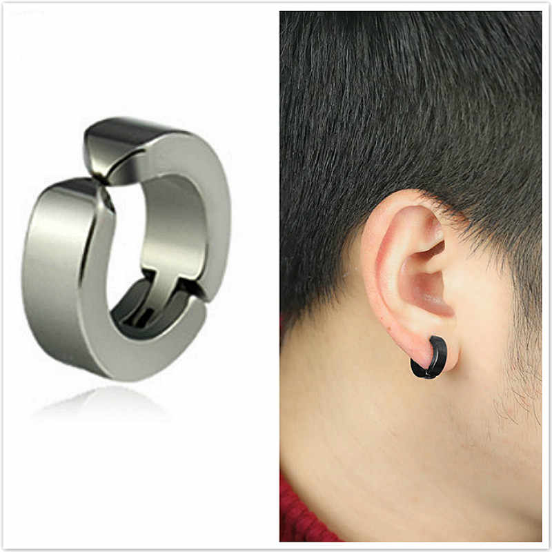 Korean Version Black Punk Earrings Male Anti-allergy Earrings Titanium Steel Drop Dangle Earringsp Ear Nails Without Earhole