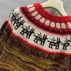 Dicken Pullover Frauen Winter Weihnachten Pullover Langarm Casual Pullover Strickwaren - 4