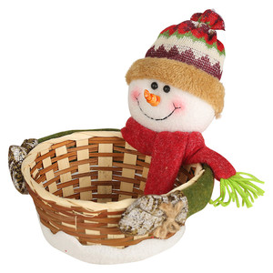 Image 2 - החג שמח סוכריות אחסון סל קישוט סנטה קלאוס אחסון סל מוצרים עבור חג המולד סוכריות מיכל מכירה לוהטת # R15
