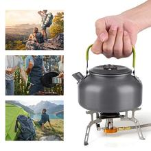 0.8L Portable Kettle Teapot Camping Trip Pot Coffee Pot Outdoor Kettle portable 0 8l outdoor hiking camping water kettles teapot coffee pot travel houseused hot water kettle