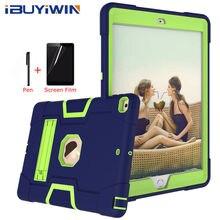 "Ibuyiwin Zware Armour Shochproof Siliconen Cover Voor Ipad 10.2 7th Gen 10.2 ""Tablet Funda Capa Case Voor Ipad 10.2 8th 2020"