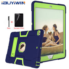 """iBuyiWin Heavy Armour Shochproof Silicone Cover for iPad 10.2 7th Gen 10.2"""" Tablet Funda Capa Case for iPad 10.2 8th 2020"""