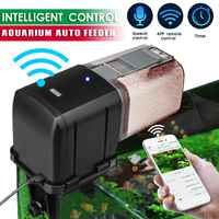 Automatic Fish Tank Aquarium Pond Fish Food Feeder WiFi Timer Speech Control Feeding Dispenser Adjustable Auto Practical Feeder