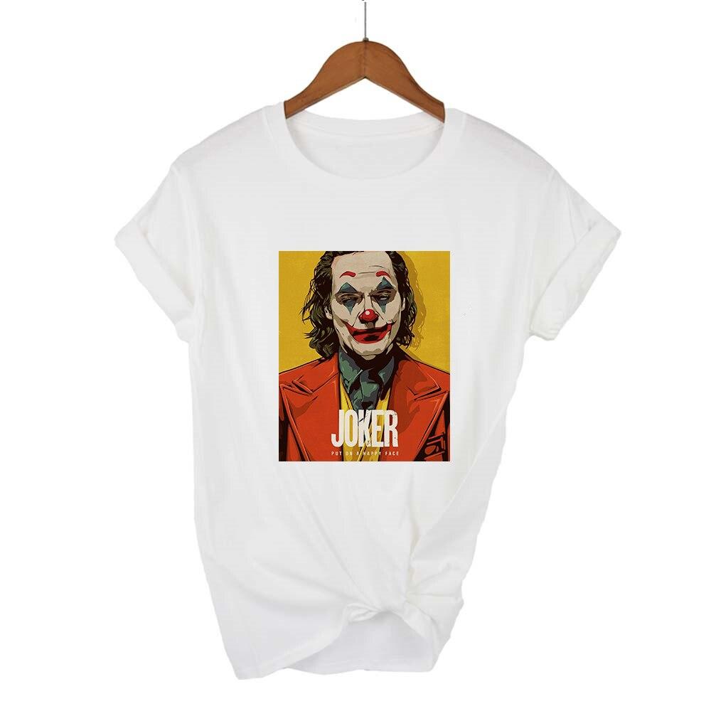 Summer Newest Joker Art Painting Female T-shirt Harajuku Graphic T Shirts Women Hip Hop Streetwear Vogue Tee Shirt Femme