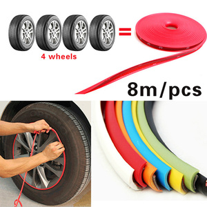 8 M Car Wheel Protection Wheel Sticker Decorative Strip Tire Protection Care Cover Drop Boat Car Shape Modification fits 4 wheel(China)