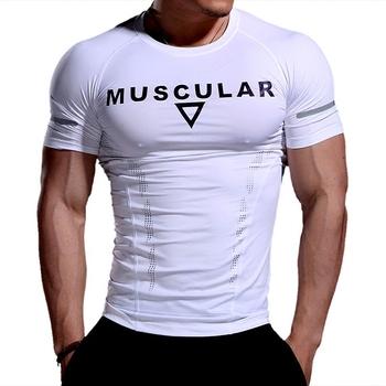 Męskie koszulki do biegania szybka kompresja na sucho t-shirty sportowe Fitness Gym koszulki do biegania koszulki piłkarskie męska koszulka sportowa tanie i dobre opinie SHEDAO Wiosna summer AUTUMN Winter Poliester Pasuje prawda na wymiar weź swój normalny rozmiar Short sleeve Black White