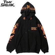 Antik çin ejderha baskı moda Hoodie Streetwear Mens Hip Hop Hoodie kazak rahat siyah kazak pamuk sonbahar 2020