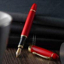 Jinhao X450 Penna Stilografica Di Lusso Penne A Inchiostro per la Penna di Scrittura di Alta Qualità Dolma Kalem Vulpen PIENO di METALLO di COLORE ROSSO BLU 22 COLORI di INCHIOSTRO E INCHIOSTRO