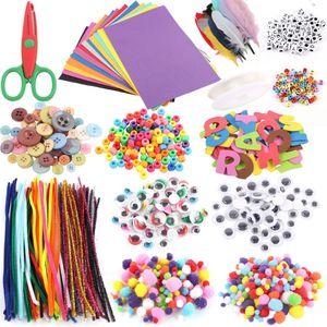 1 комплект, Премиум новый набор для творчества и рукоделия, включает в себя чистящие трубки, перышки и войлочные шарики из пенопласта для дет...